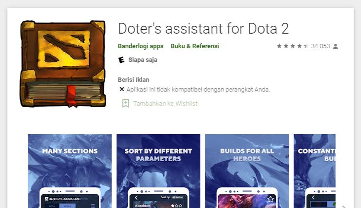 aplikasi android belajar dota 2 doter's assistant for dota 2