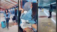 viral gadis bantu belikan makanan untuk seorang ibu di bandara: sangat senang jika bisa bertemu lagi