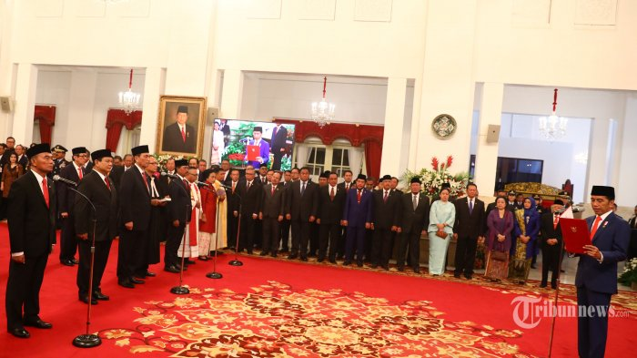 pelantikan kabinet indonesia maju 20191023 202628