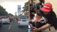 bocah viral yang bantu ambulans buka akses jalan saat macet dapat asuransi pendidikan