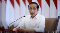 presiden jokowi memberi pernyataan terkait penanganan covid-19, rabu (23/6/2021). jokowi menegaskan tidak memilik lockdown, dan memilih ppkm mikro.