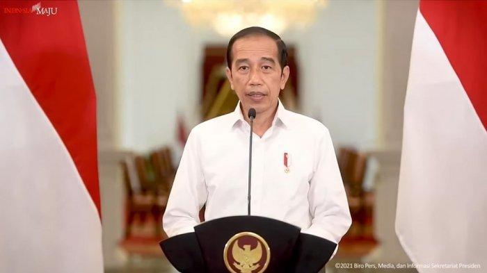 presiden joko widodo jokowi mengumumkan perpanjangan ppkm 1