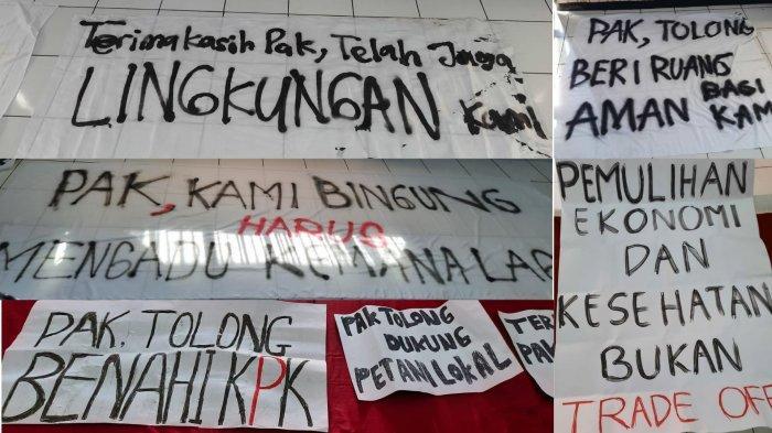 beberapa poster kritik yang dibuat oleh mahasiswa uns ss 1