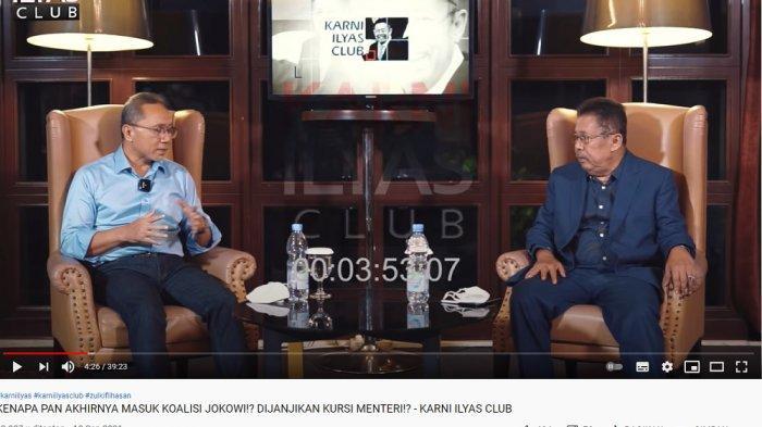 ketua umum pan zulkifli hasan dalam wawancara di karni ilyas club